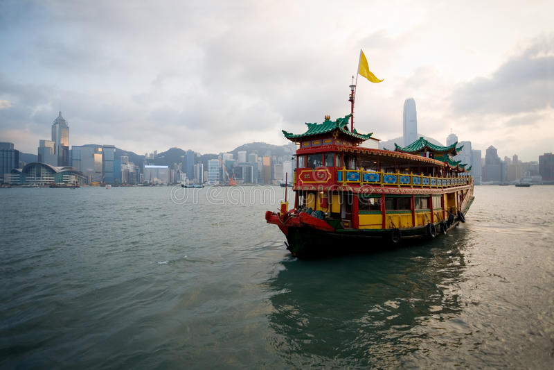 巡航轮渡香港 库存照片