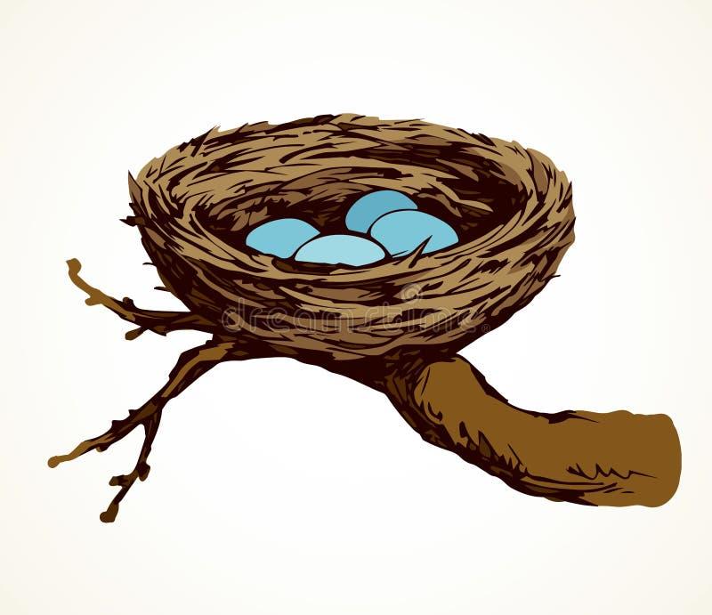 巢传染媒介图画 库存例证