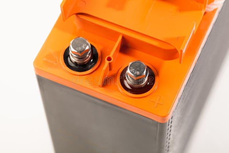 工业乙酸铅电池钳位  免版税图库摄影