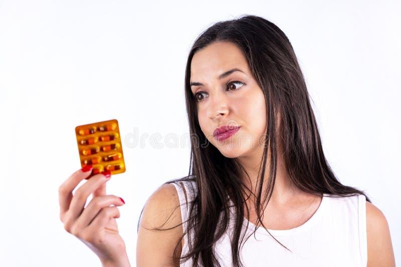 工业制药使药片维生素少妇水泡服麻醉剂 库存照片