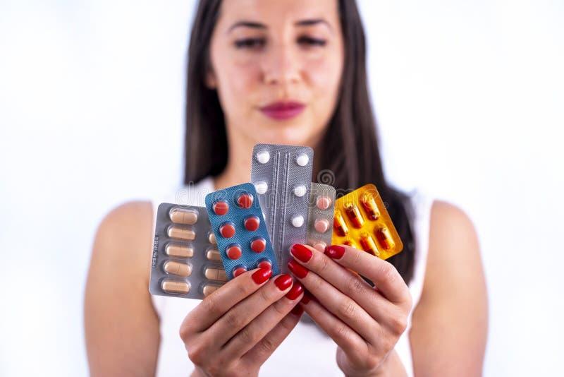 工业制药使药片维生素少妇水泡服麻醉剂 库存图片
