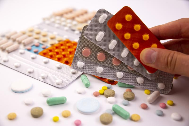 工业制药使药片维生素服麻醉剂 图库摄影