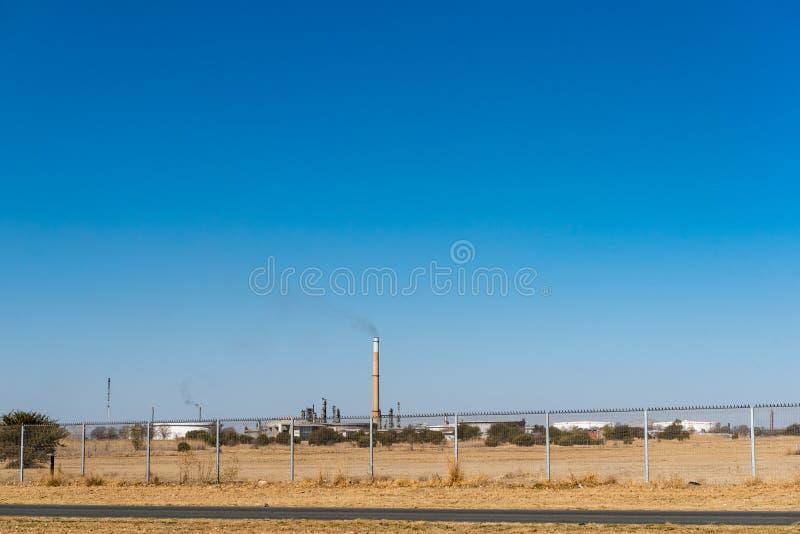 工业区的看法在Sasolburg 库存照片