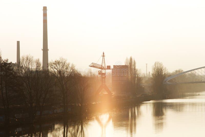 工业区 免版税库存照片