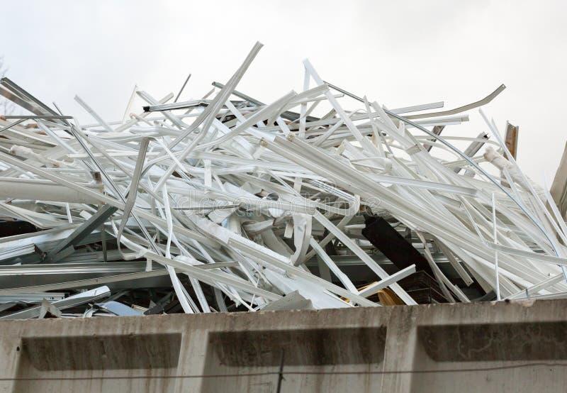 工业回收的废金属 免版税库存图片