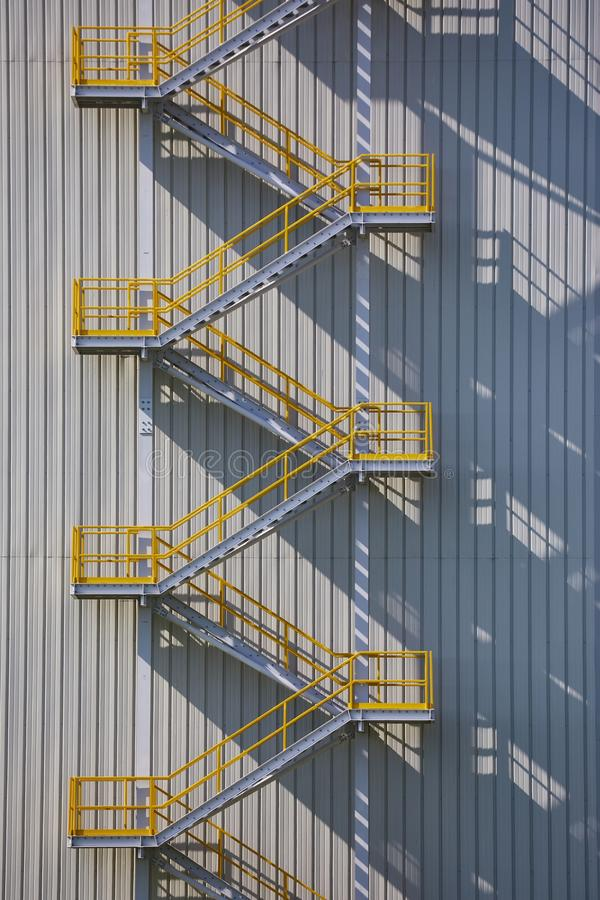 工业外部楼梯 库存照片