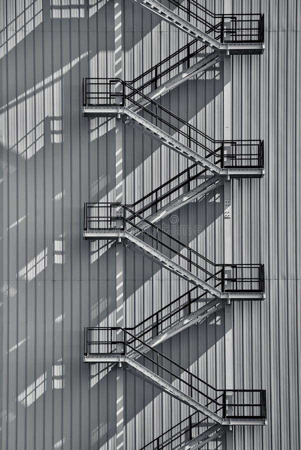 工业外部楼梯 皇族释放例证