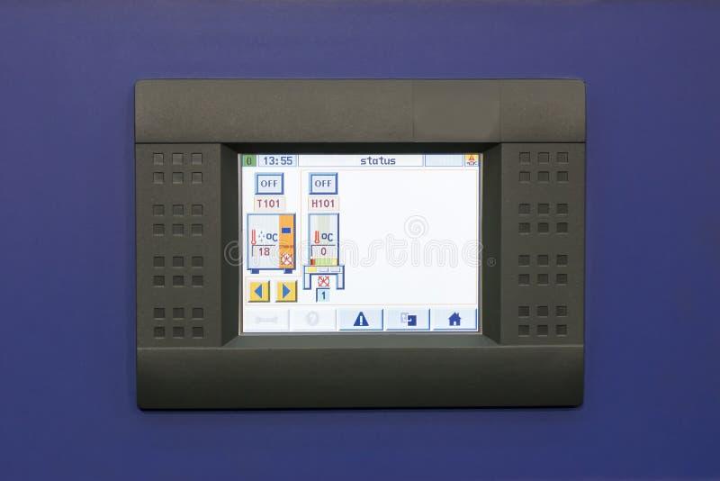 工业屏幕显示器的机器的关闭或显示经营工业在车间 库存图片
