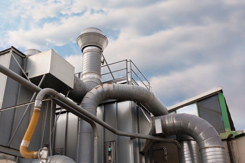 工业工厂空气滤清系统 图库摄影