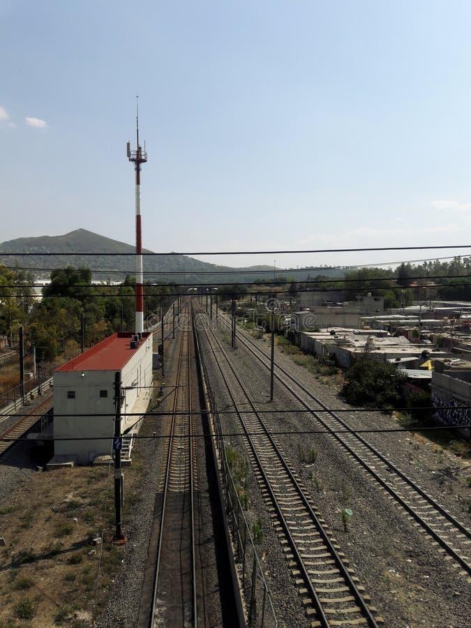 工业工厂郊区建筑学在Estado de墨西哥墨西哥城Ecatepec 免版税图库摄影