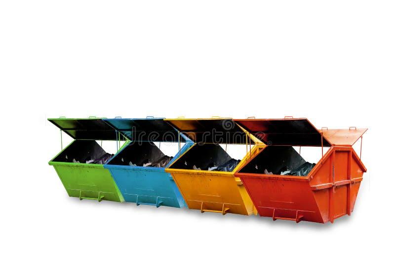 工业废料容器(大型垃圾桶)市政废物或industria的 免版税库存图片