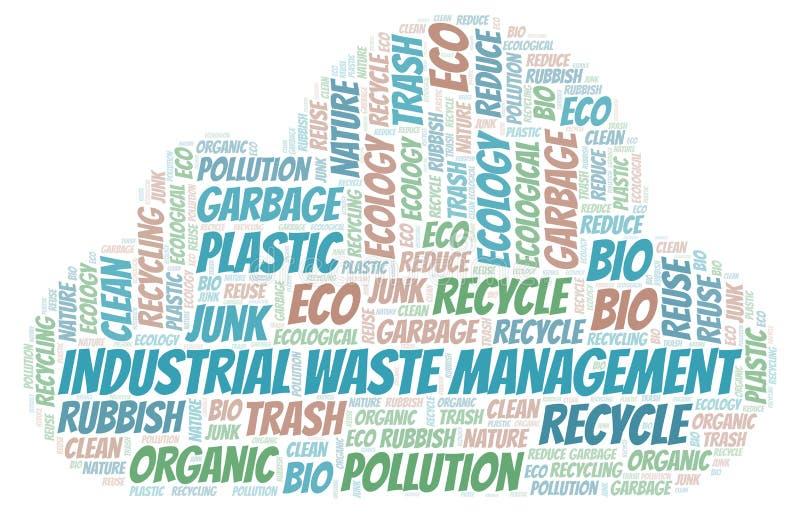 工业废料管理词云彩 向量例证
