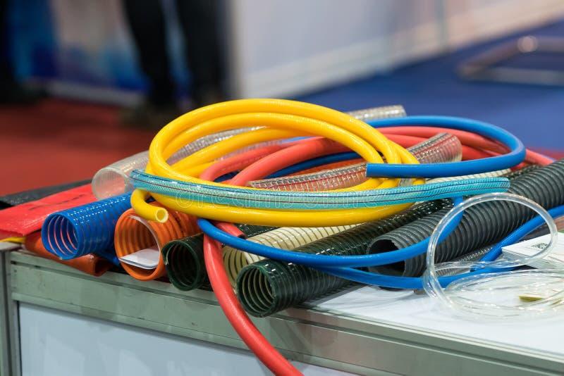 工业机器和设备的高压空气软管 库存照片