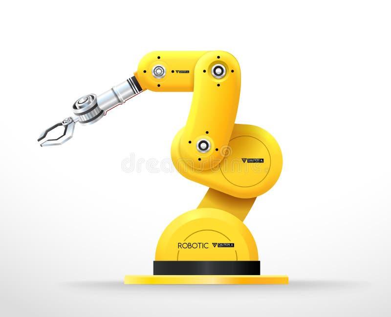 工业机器机器人手臂间的机械工厂 皇族释放例证