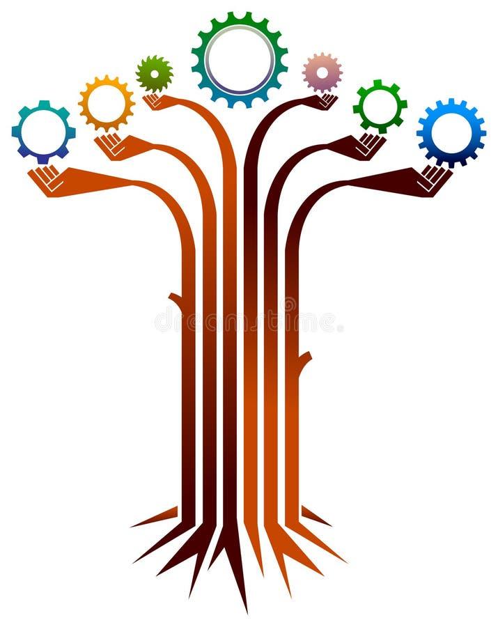 工业树 向量例证