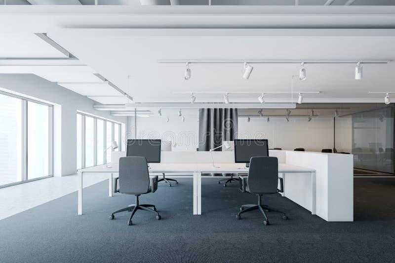 工业样式露天场所办公室内部 向量例证