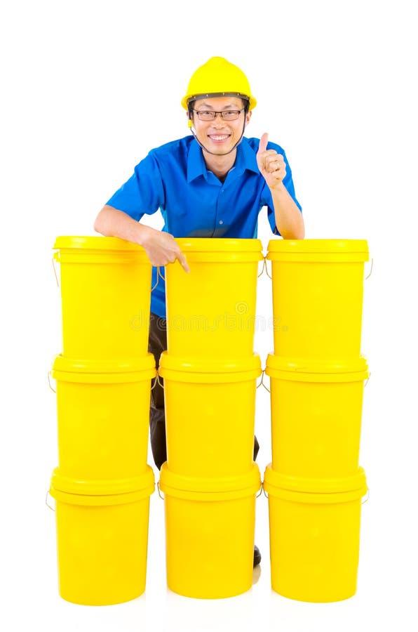 工业润滑油和油膏 库存图片