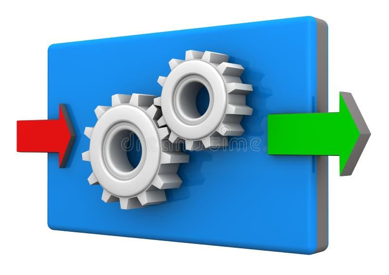 工业生产的标志 库存例证