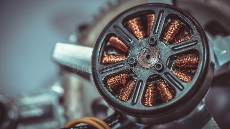 工业电磁体线圈绕组发电器 免版税库存图片