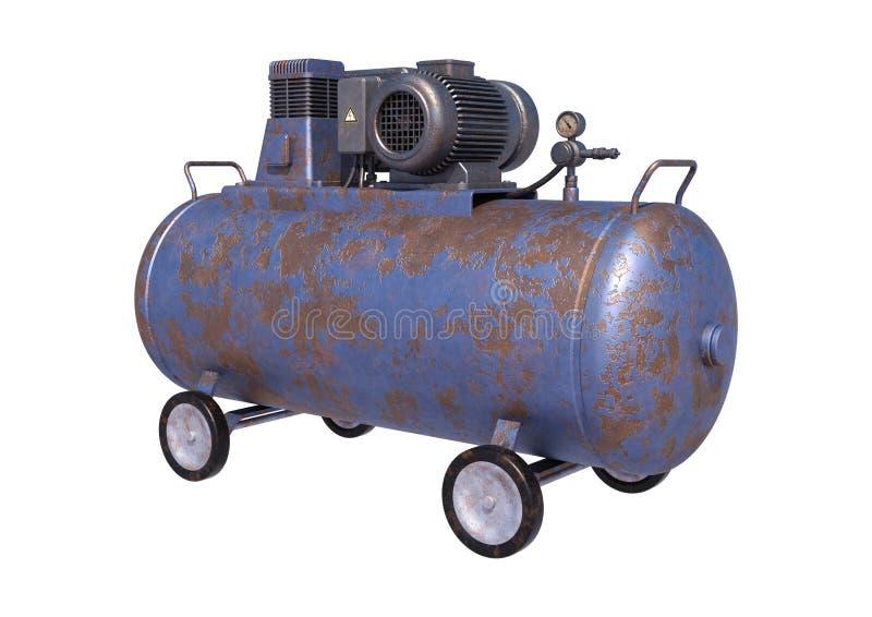 工业空气压缩机 皇族释放例证