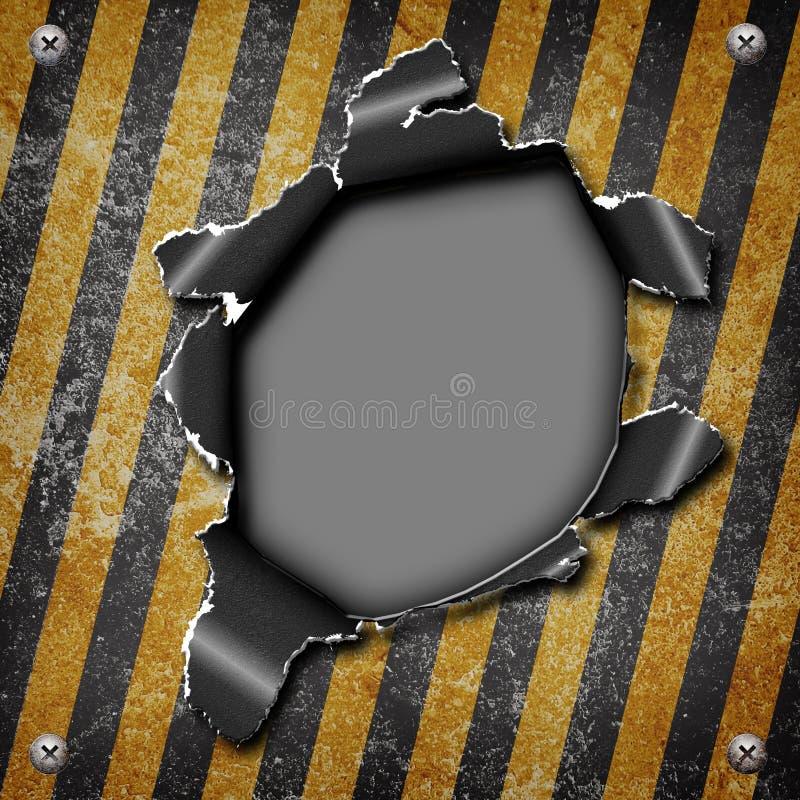 工业脏的钢板 皇族释放例证