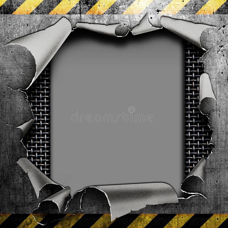 工业脏的钢板 向量例证