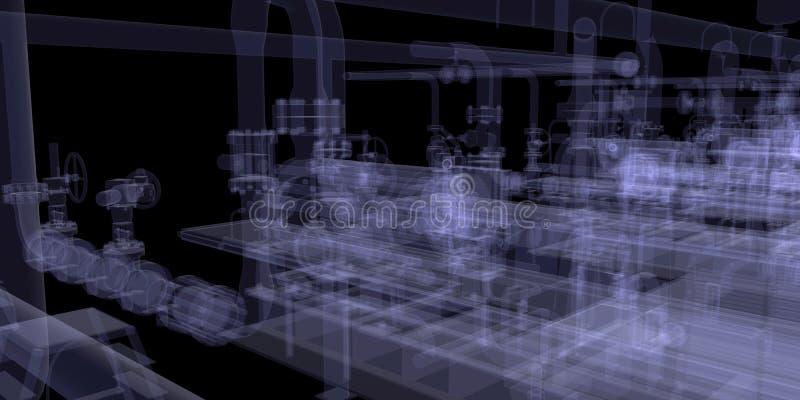 工业设备。X-射线回报 皇族释放例证