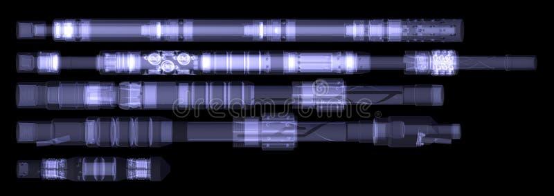 工业设备。X-射线 向量例证