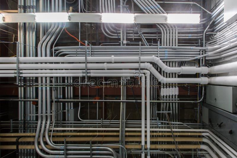 工业输送管道和管子 库存照片