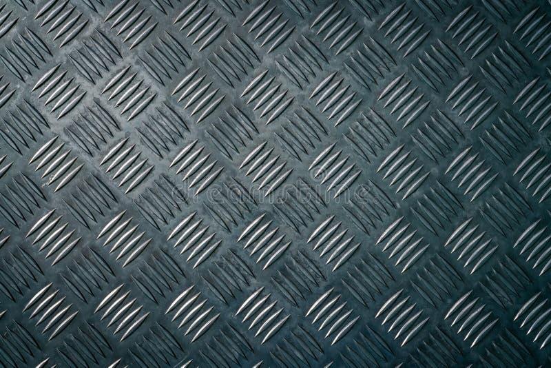 工业金属验查员板材 金属验查员板材纹理背景 反滑行的金属checkerplate 压印的金属板 库存照片