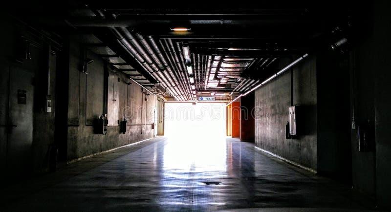 工业隧道雅典希腊 图库摄影