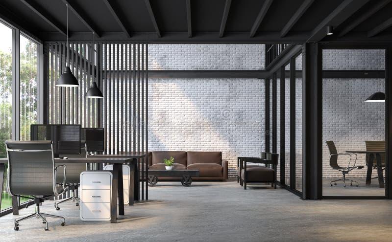 工业顶楼样式办公室3d回报 皇族释放例证