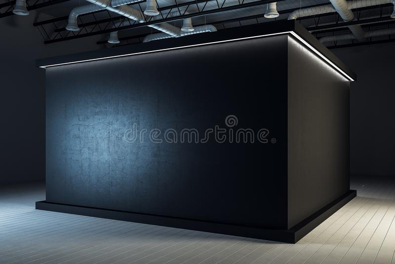 工业黑展览室内部 库存例证