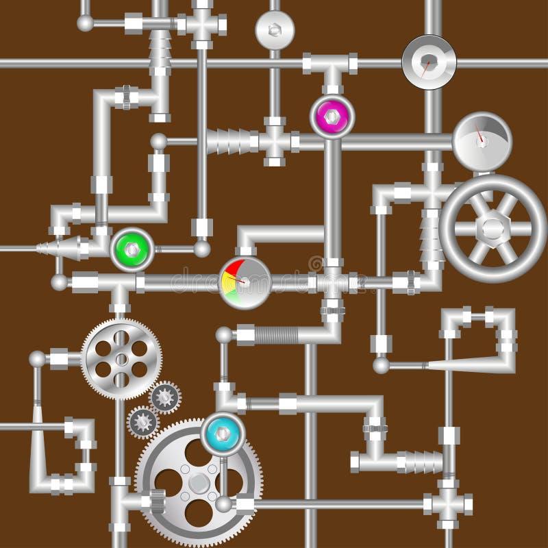 工业steampunk背景 库存例证
