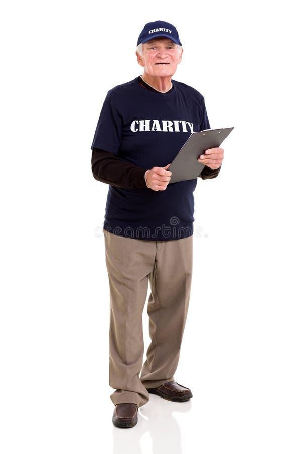 工作为慈善的年长人 库存照片