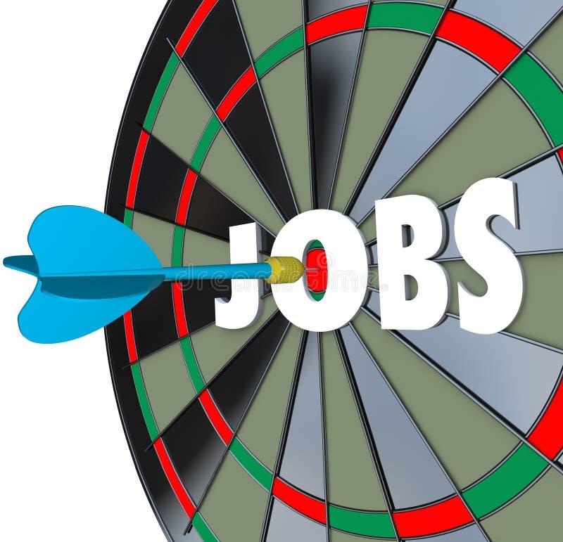 工作事业掷镖的圆靶箭成功的就业 向量例证