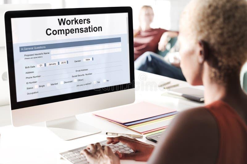 工作伤害报偿形式概念 免版税库存照片