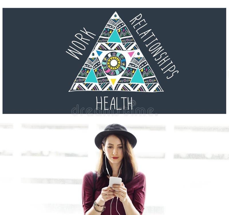 工作关系健康平衡均等槽枥概念 图库摄影