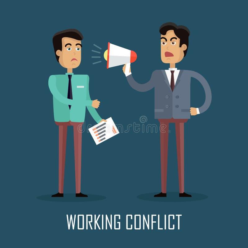 工作冲突概念 皇族释放例证