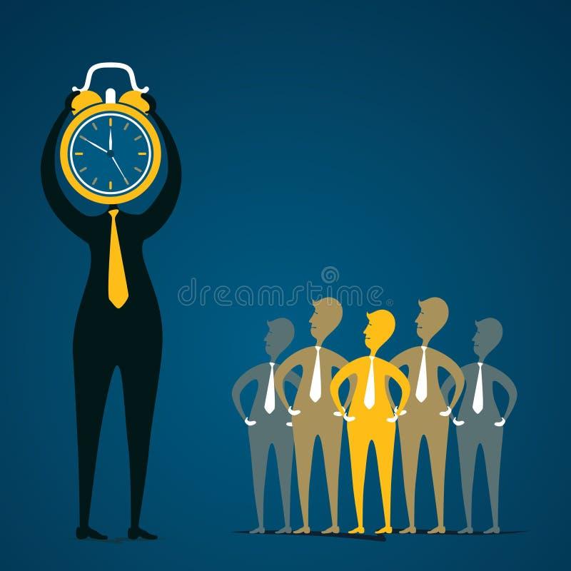 工作准时概念 向量例证