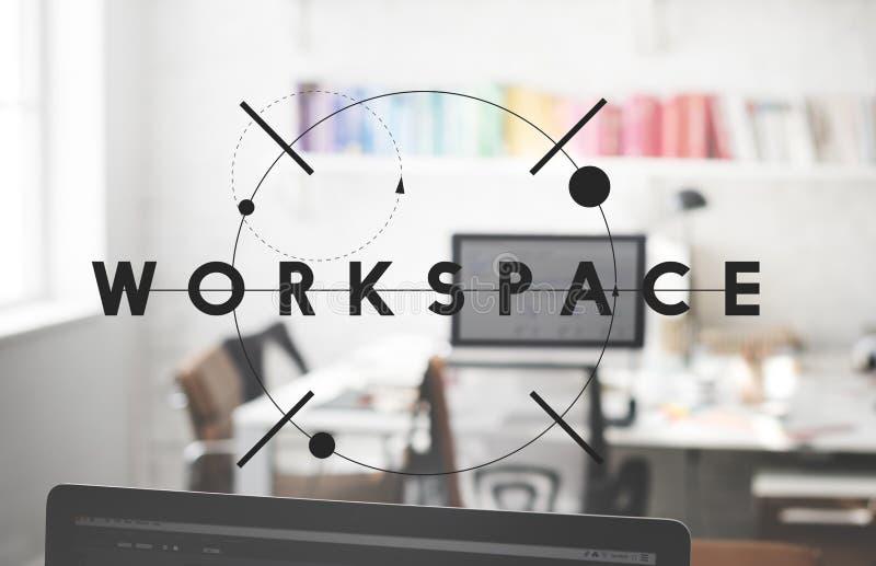 工作区工作场所顶楼现代办公室开放概念 免版税图库摄影