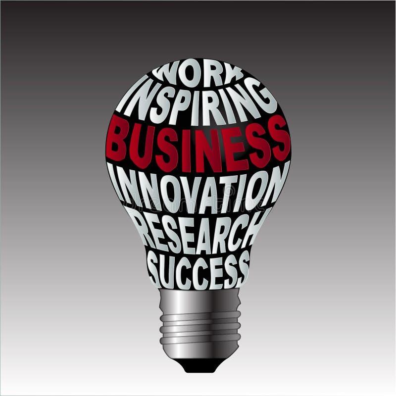 工作启发企业创新研究成功电灯泡  库存例证