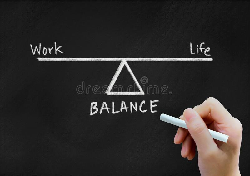 工作和生活平衡背景概念 库存照片