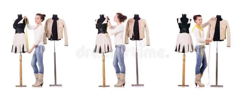 Download 工作在礼服的妇女裁缝 库存图片. 图片 包括有 工作, 拼贴画, 女性, 方式, 设计员, 厘米, 织品 - 72365897