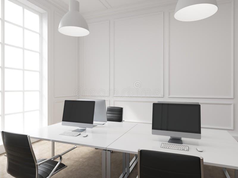 工作场所在办公室 向量例证