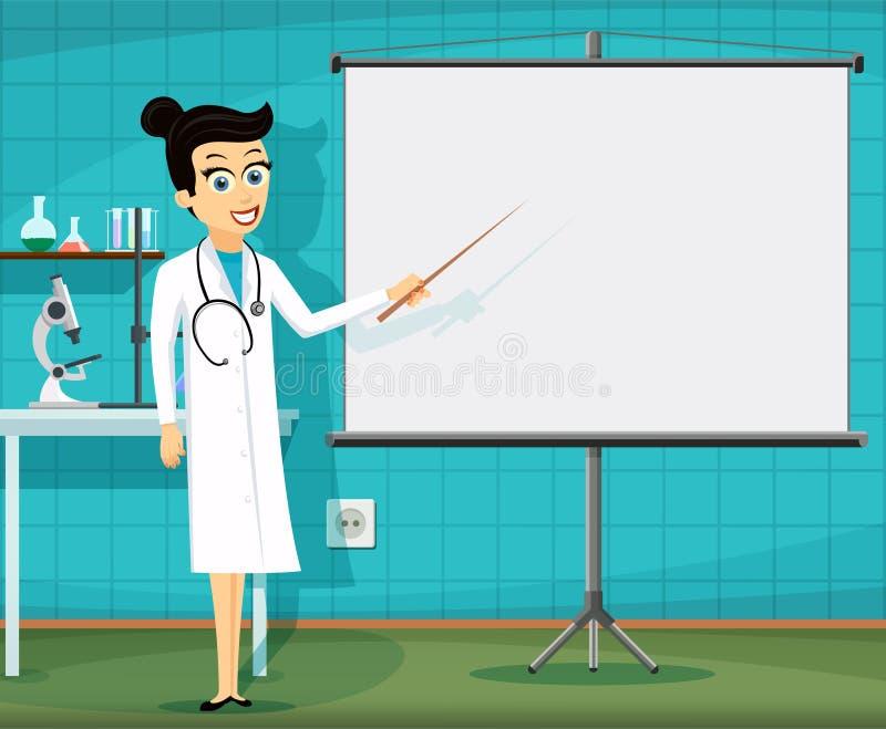 工作场所的医护人员 库存例证
