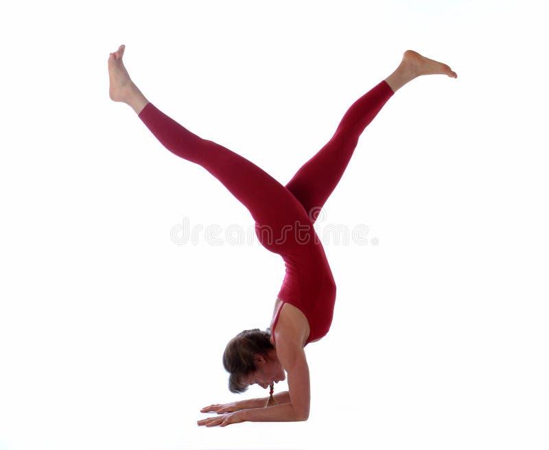工作室瑜伽 免版税库存图片