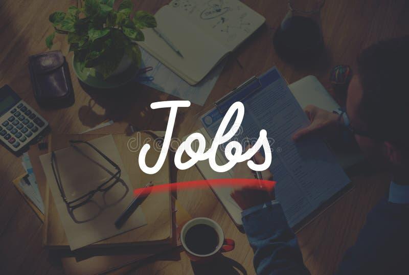 工作就业事业职业应用概念 免版税库存照片