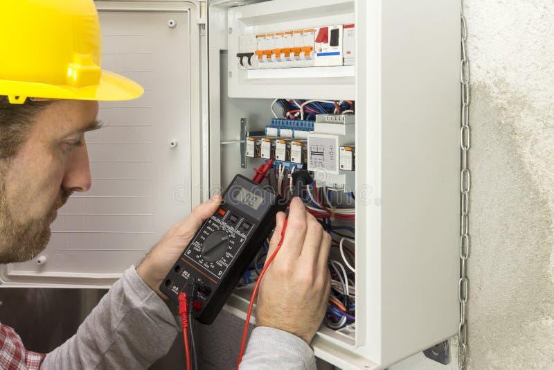工作措施的电工电流 免版税图库摄影