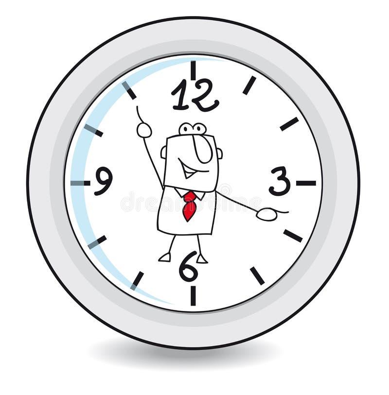 工作时间 向量例证